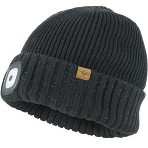 Sealskinz Waterproof Cold Weather LED Roll Cuff Beanie black black