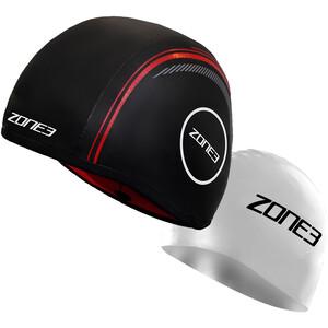 Zone3 Neoprene Strapless Schwimmkappe black/red black/red