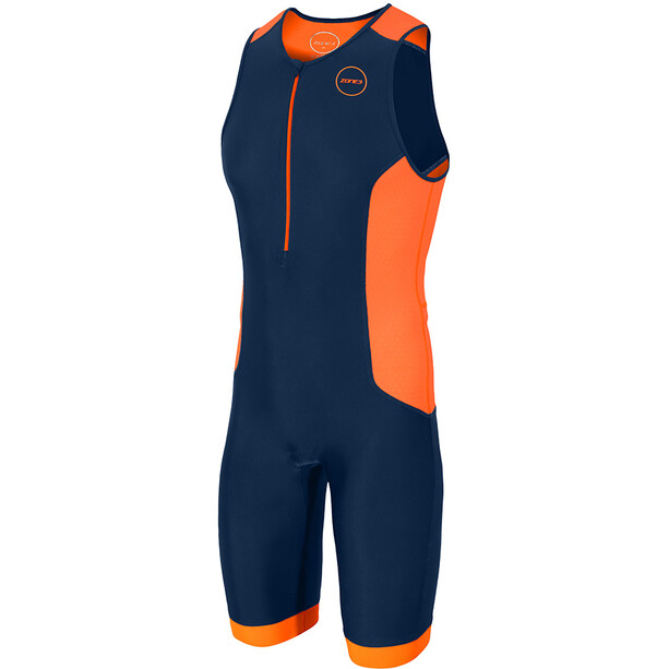 Zone3 Aquaflo Plus Trisuit Herren french/navy/grey/neon orange