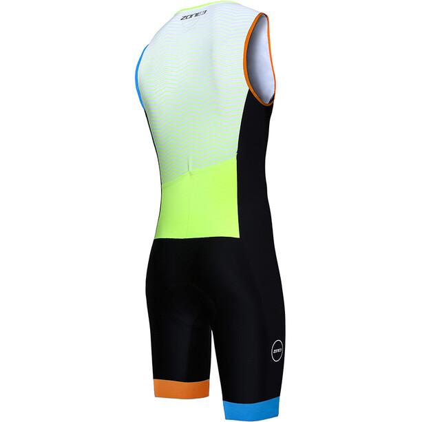 Zone3 Lava Long Distance Trisuit Herren ltd ed-black/white/orange/blue/yellow
