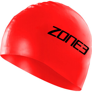 Zone3 Silicone Schwimmkappe red red