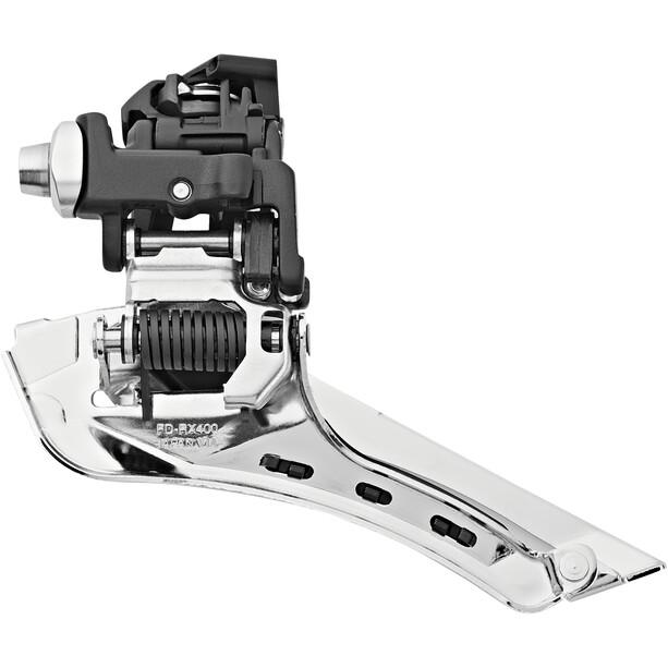 Shimano GRX FD-RX400 Frontgir 2x10 Braze-On Svart/sølv