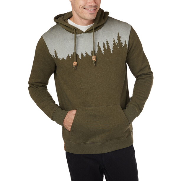tentree Juniper Hoodie Herr Olive Night Green Heather