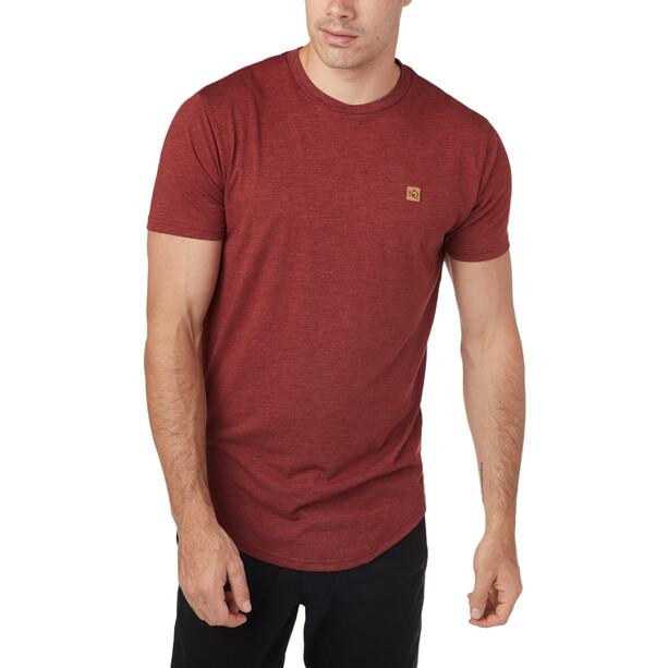 tentree Standard Kurzarm T-Shirt Herren red maple heather