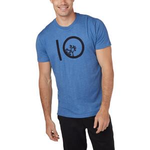 tentree Ten Kurzarm T-Shirt Herren blue jay/blue heather blue jay/blue heather