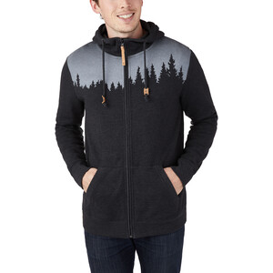 tentree Juniper Zip Hoodie Herren meteorite black heather meteorite black heather