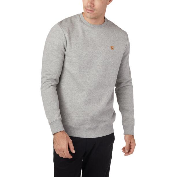 tentree Standard Rundhals-Langarmshirt Herren hi-rise grey heather