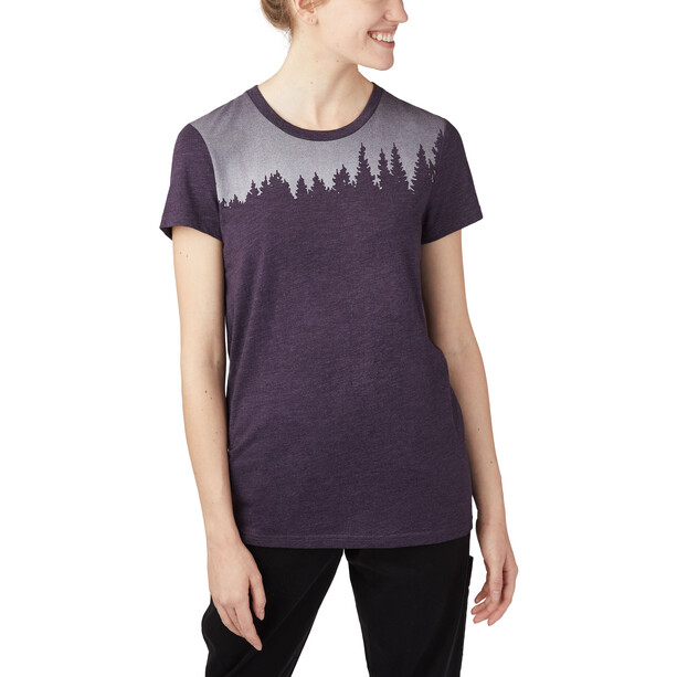 tentree Juniper Kurzarm T-Shirt Damen aubergine purple heather