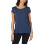 tentree Timberline Kurzarm T-Shirt Damen dark ocean blue heather