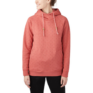 tentree Burney Hoodie Damen mineral red/small tree AOP mineral red/small tree AOP