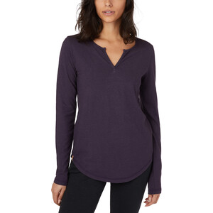 tentree Moraine Langarm Top Damen aubergine purple aubergine purple