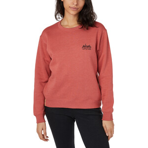 tentree Rundhals-Langarmshirt Damen mineral red heather mineral red heather
