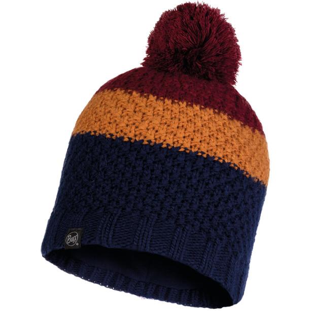 Buff Jav Knitted & Full Fleece Hat Men, sininen/monivärinen