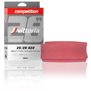 """Vittoria Competition Schlauch 28"""" 25/28-622 Latex red red"""