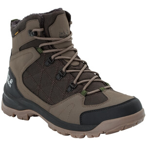 Jack Wolfskin Cold Terrain Texapore Mid-Cut Schuhe Herren coconut brown/black coconut brown/black