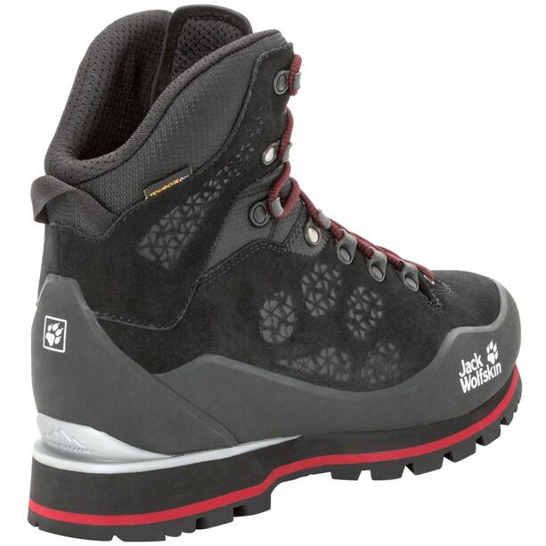 Jack Wolfskin Wilderness Peak Texapore Mid-Cut Schuhe Herren black/red
