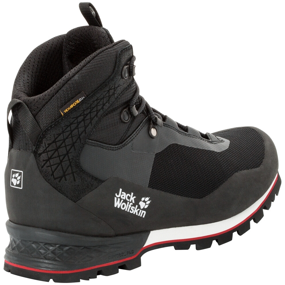 Jack Wolfskin Wilderness Lite Texapore Mid Cut Schuhe Herren blackred