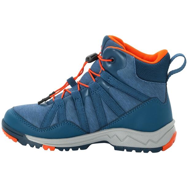 Jack Wolfskin Thunderbolt Texapore Mid-Cut Schuhe Kinder blue/orange