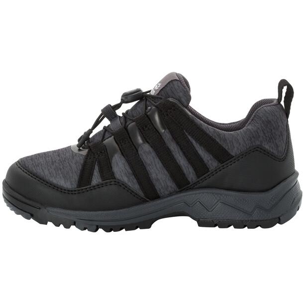 Jack Wolfskin Thunderbolt Texapore Low Schuhe Kinder black/dark grey