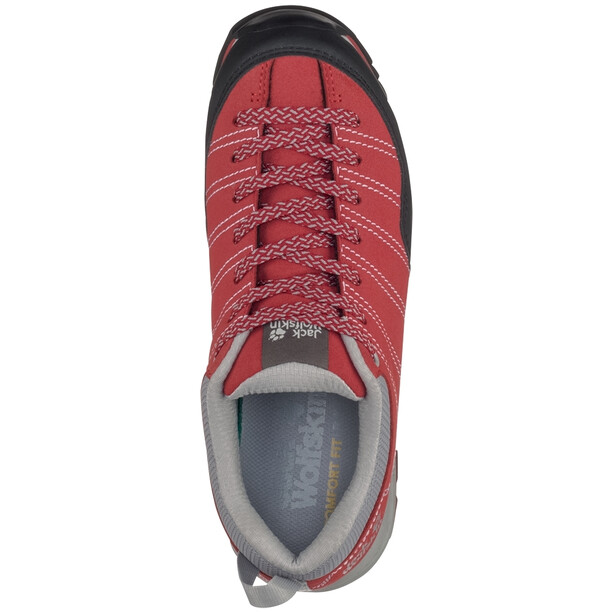 Jack Wolfskin Scrambler Low Schuhe Damen red/light grey