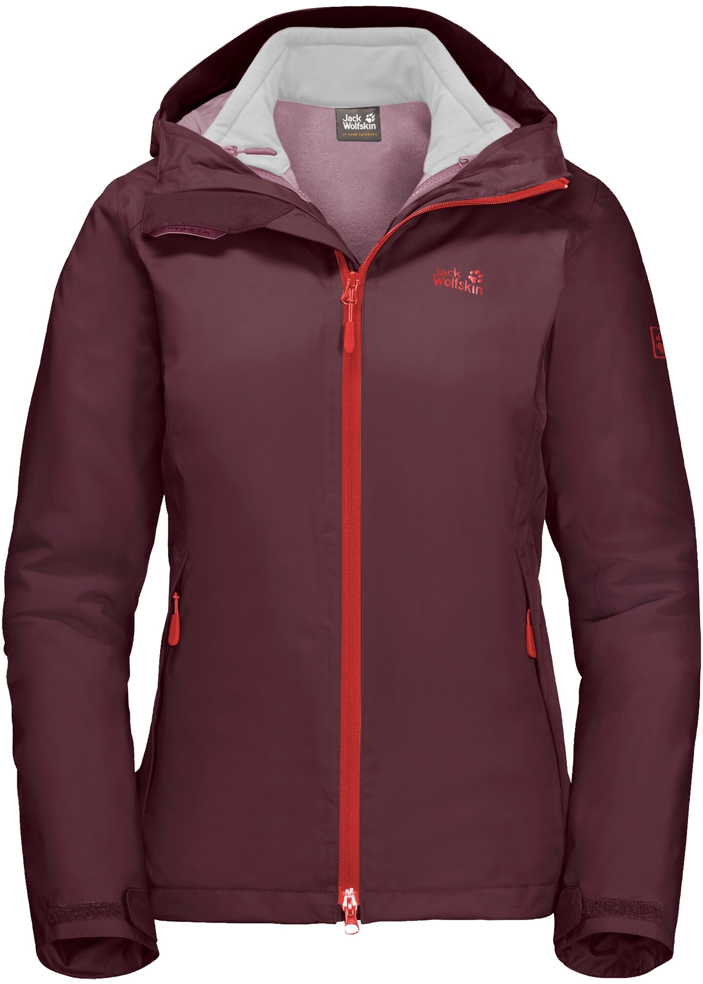 jack wolfskin gotland 3in1 doppeljacke damen fall red