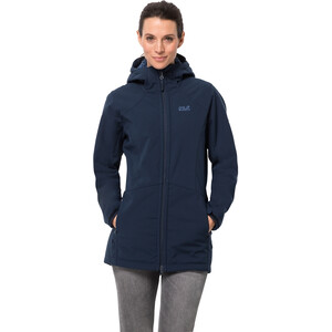 Jack Wolfskin Rock Valley Mantel Damen midnight blue midnight blue