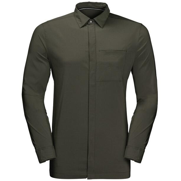 Jack Wolfskin JWP Langarm Shirt Herren oliv