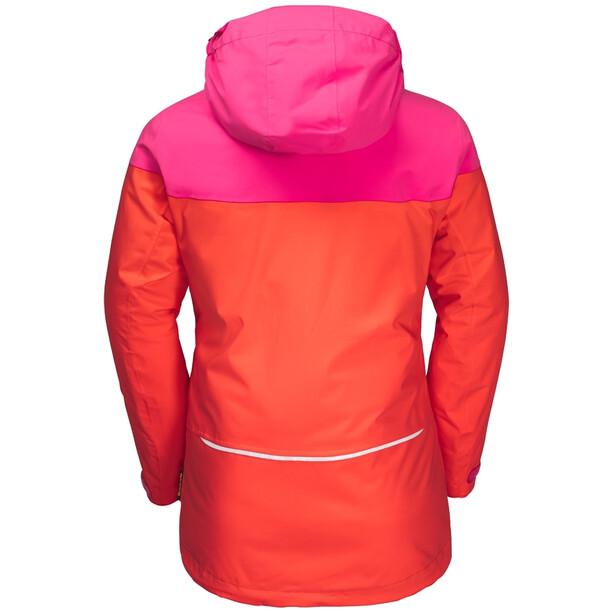 Jack Wolfskin Powder Mountain Jacke Mädchen orange coral