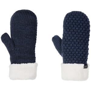 Jack Wolfskin Highloft Knit Fäustlinge Damen blau/weiß blau/weiß