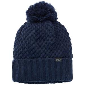 Jack Wolfskin Highloft Knit Cap Damen blau/weiß blau/weiß