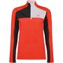 fiery coral/charcoal grey marl/white