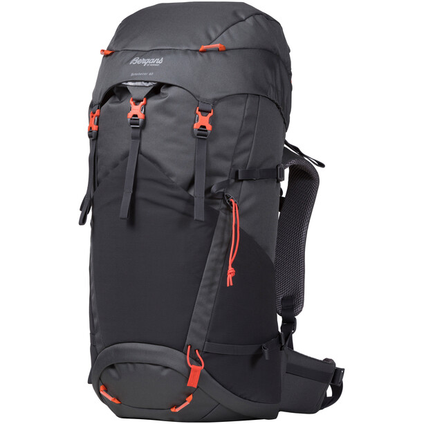 Bergans Birkebeiner 40 Backpack Barn Solid Dark Grey/Solid Charcoal/Koi Orange