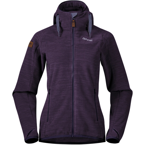 Bergans Hareid Fleece Jacket Dam Purple Velvet Melange