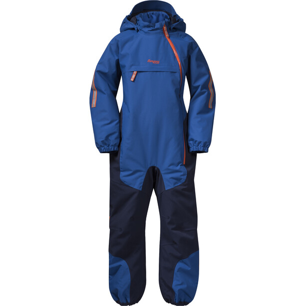 Bergans Lilletind Insulated Coverall Barn Classic Blue/Navy/Bright Magma