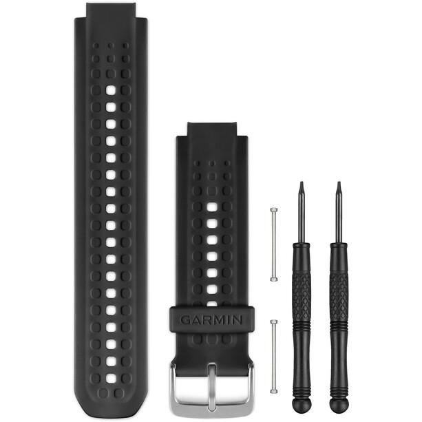Garmin Silikon Uhrenband für Forerunner 25 black/silver