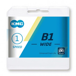 KMC B1 Wide Kæde 1 hastighed, sort sort