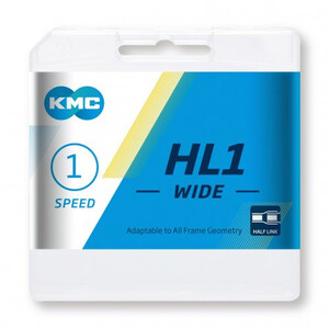 KMC HL1 Wide Chain 1-speed シルバー