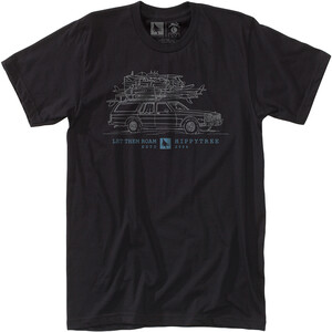 Hippy Tree Wagon T-Shirt Herren black black