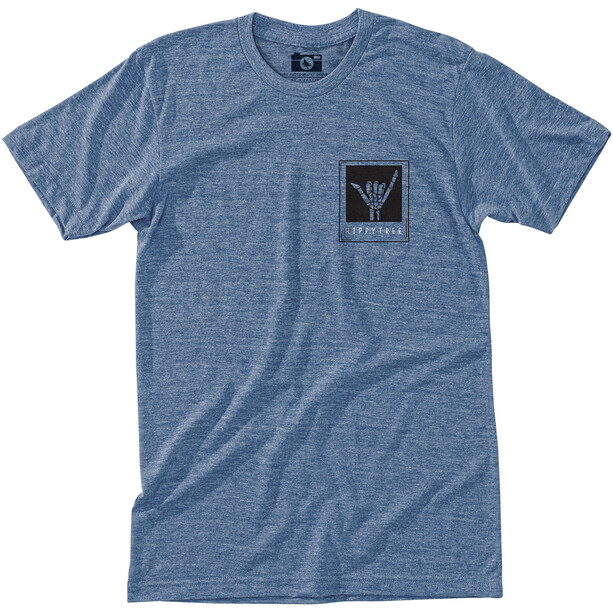 Hippy Tree Shaka T-Shirt Herren heather light blue