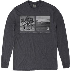 Hippy Tree Wanderer Langarmshirt Herren heather charcoal heather charcoal