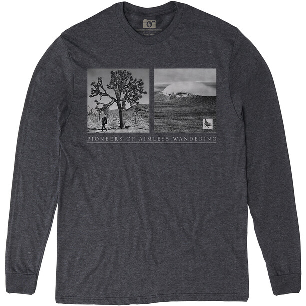 Hippy Tree Wanderer Langarmshirt Herren heather charcoal