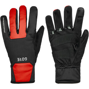 GORE WEAR M Gore Windstopper Thermo Handschuhe schwarz/rot schwarz/rot