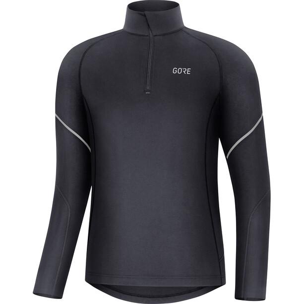 GORE WEAR M Mid Langarm Zip Shirt Herren black