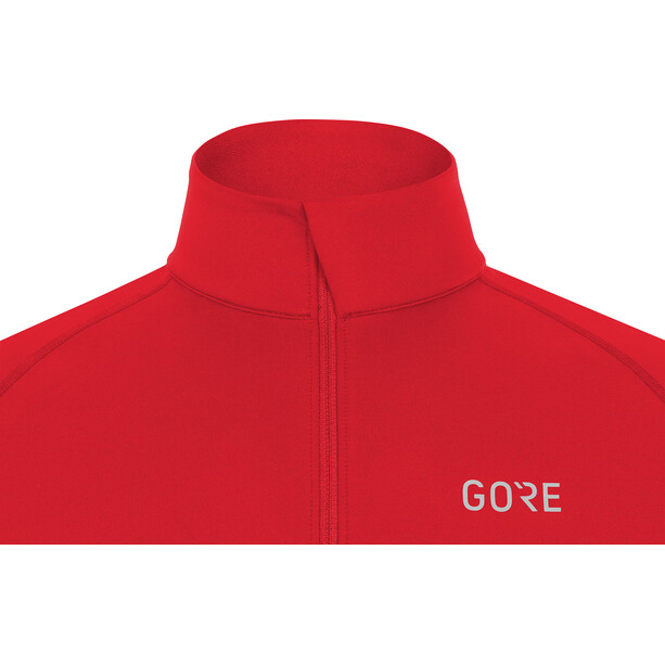 GORE WEAR M Mid Long Sleeve Zip Shirt Herrer, red