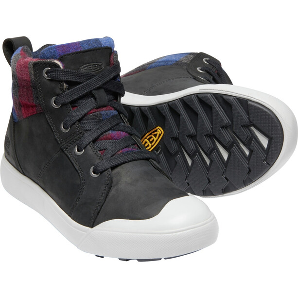 Keen Elena Mid-Cut Schuhe Damen black/plaid