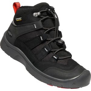 Keen Hikeport Mid WP Schuhe Jugend black/bright red black/bright red
