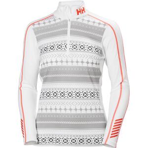 Helly Hansen Lifa Active Graphic 1/2 Zip Shirt Damen white white