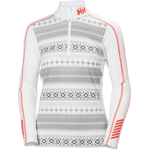 Helly Hansen Lifa Active Graphic 1/2 Zip Shirt Damen white