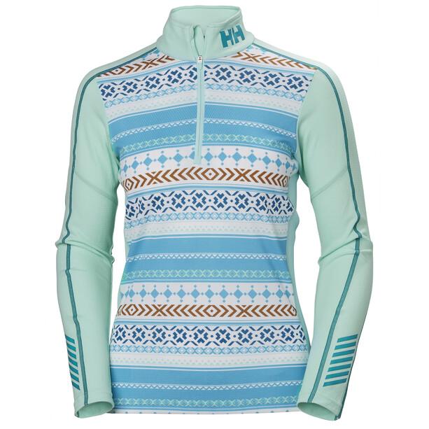Helly Hansen Lifa Active Graphic 1/2 Zip Shirt Damen blue tint