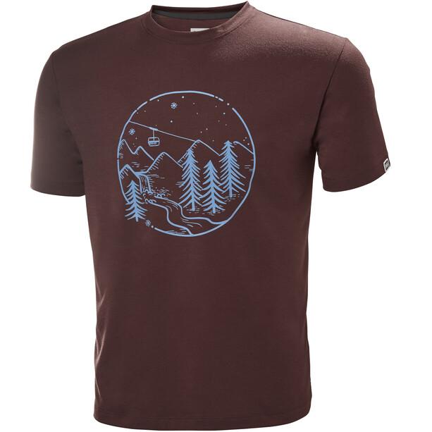 Helly Hansen Skog Graphic T-Shirt Herr andorra